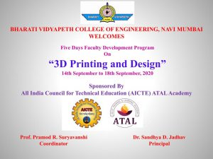 3D Printing and Design ATAL FDP Banner.pptx